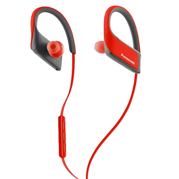 Image of   Bluetooth sports headset med mikrofon Panasonic RP-BTS30E Rød