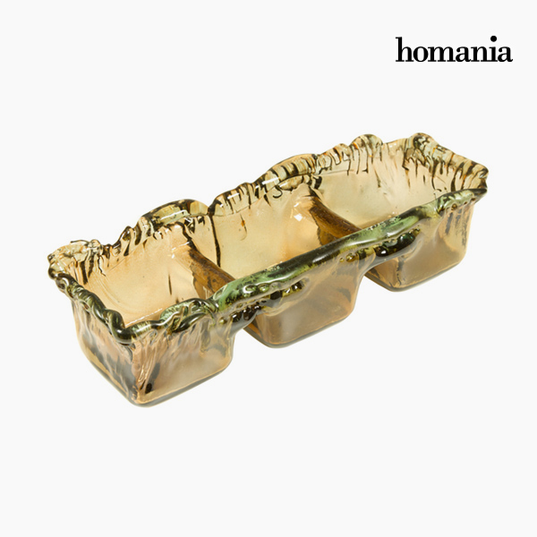 Image of   Bordekoration af genbrugsglas Rav - Crystal Colours Deco Samling by Homania