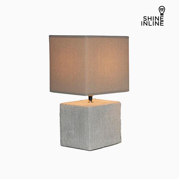 Image of   Bordlampe Flødefarvet (22 x 22 x 48 cm) by Shine Inline
