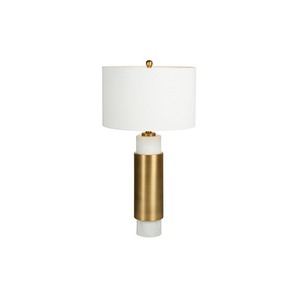 Image of   Bordlampe White Cylinder (40 x 76 x 40 cm)