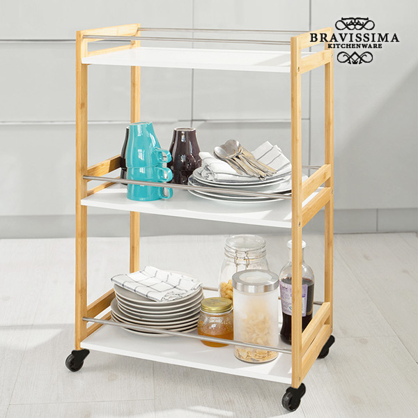 Image of   Bravissima Kitchen Bambus Tjener Indkøbsvogn
