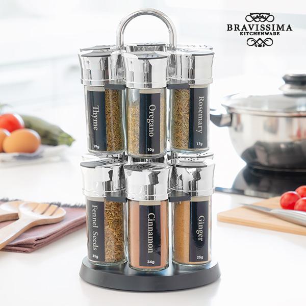 Image of   Bravissima Køkken Krydderihylde med 12 Krydderier
