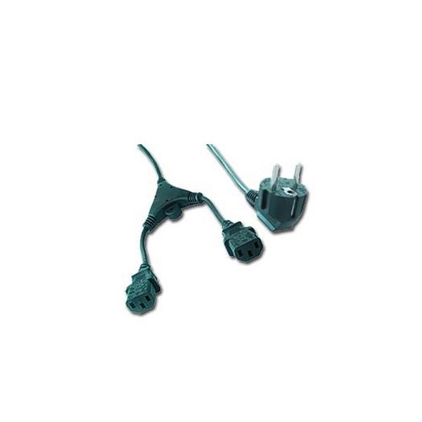 Image of   C13-strømforsyningskabel iggual APTAPC0483 IGG311196 2 m