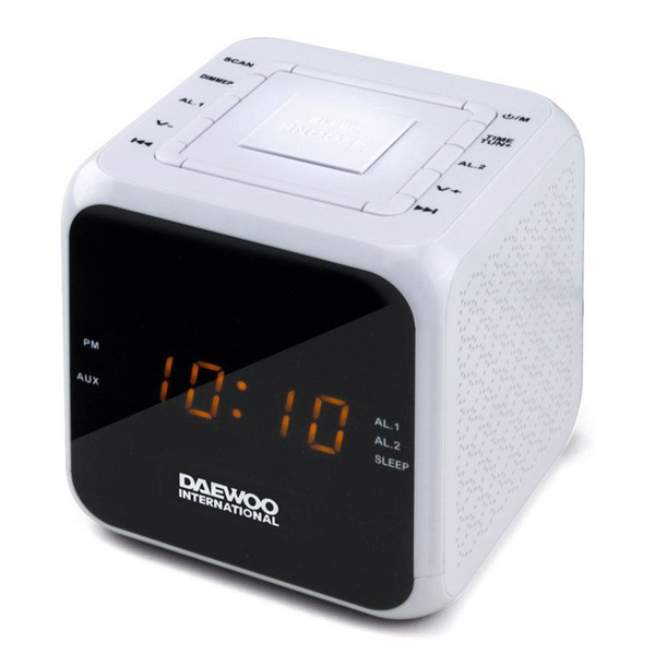 Image of   Clockradio Daewoo DCR-450 Hvid