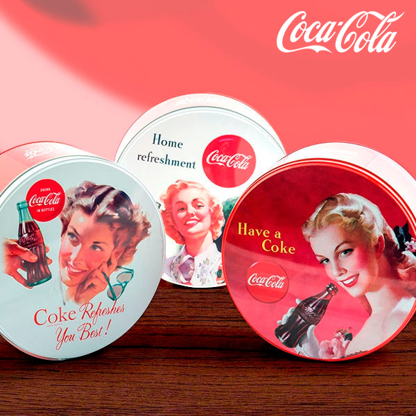 Image of   Coca-Cola Retro Rund Metal Box