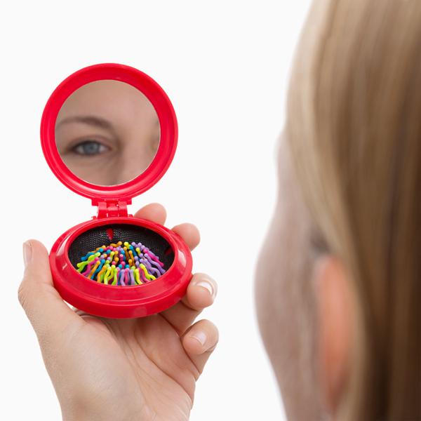 Image of   Colors Spejl med Børste til Håndtasken
