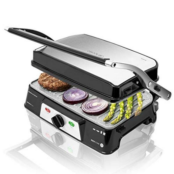 Image of   Contact Grill Cecotec Rockn grill 1500 Take&Clean 1500W Sort Sølvfarvet