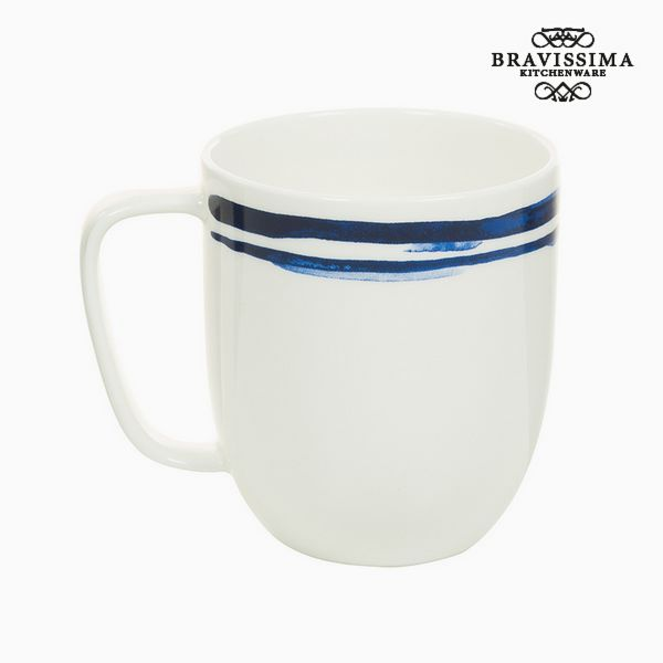 Image of   Cup Porcelæn Striber Blue - Kitchens Deco Samling by Bravissima Kitchen