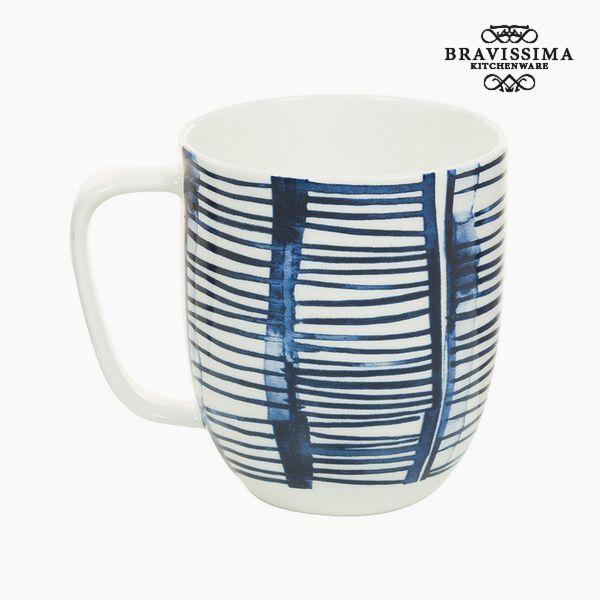 Image of   Cup Porcelæn Striber Hvid - Kitchens Deco Samling by Bravissima Kitchen