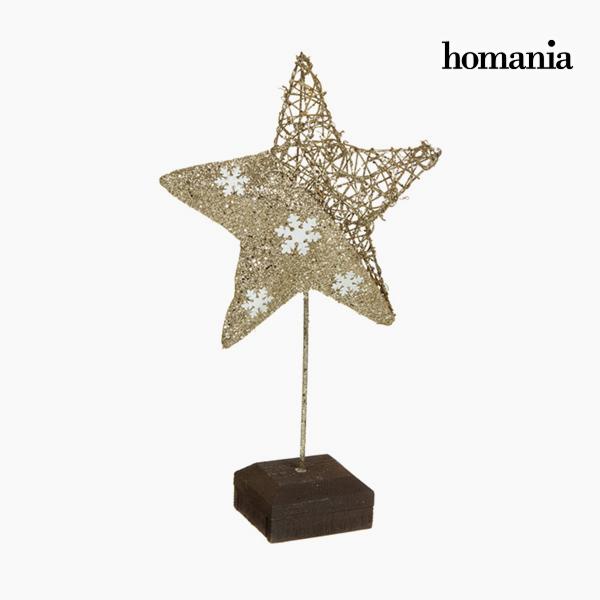 Image of   Dekorativ figur Stjerne Champagne Guld by Homania