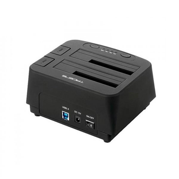 "Image of   Dual dock-station Tacens 5PORTUMDUO2 2.5""-3.5"" SATA USB 3.0 Sort"