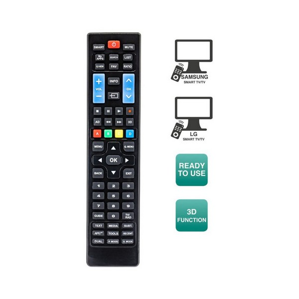 Image of   Fjernbetjening til smart-TV Ewent EW1575 Sort