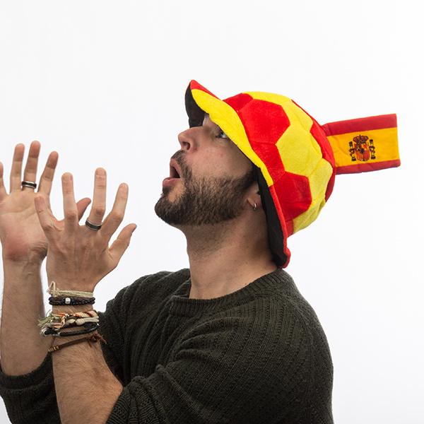 Image of   Fodboldhat med Spansk Flag