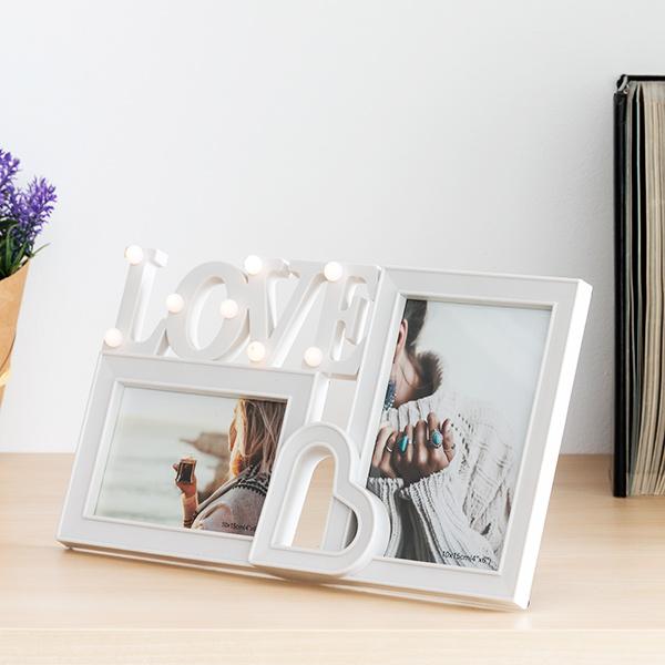 Image of   Fotoholder LED Love (2 Fotos)