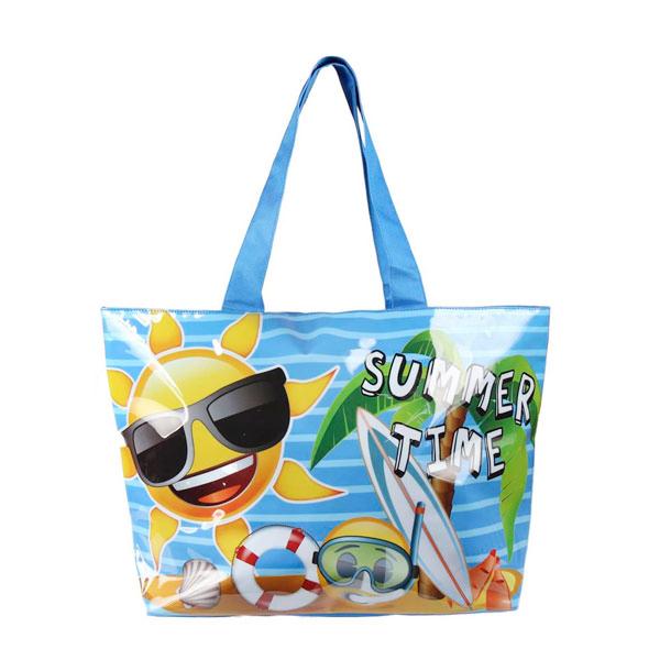 Image of   Gadget and Gifts Summer Time Emojis Strandtaske
