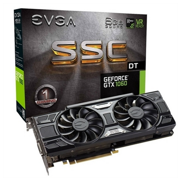 Image of   Gaming-grafikkort Evga NVIDIA GTX 1060 SSC DT 6 GB GDDR5 1506 MHz