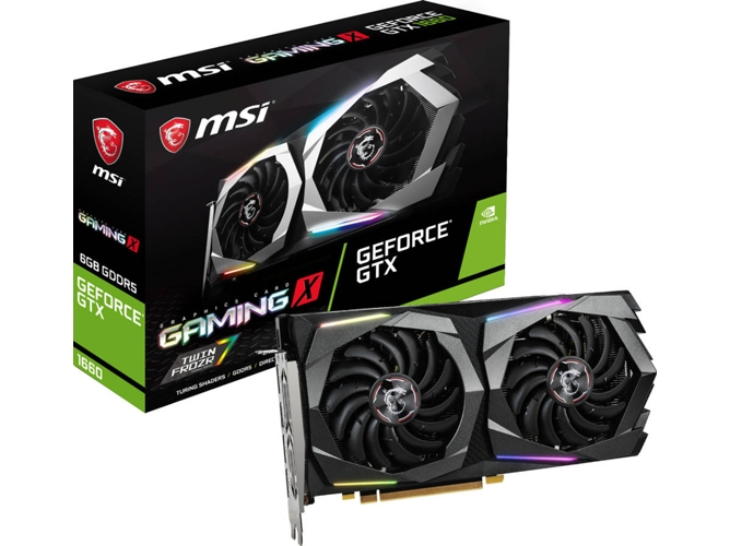 Image of   Gaming-grafikkort MSI GeForce GTX 1660 Gaming X 6 GB DDR5