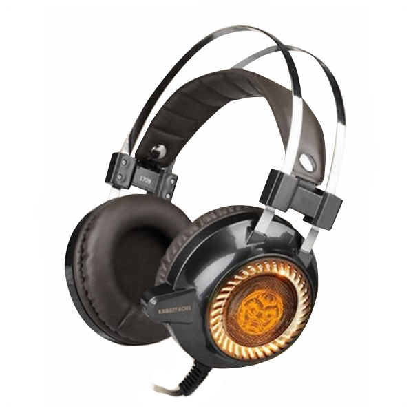 Image of   Gaming headset med mikrofon iggual KAIMATACHI Brun Orange
