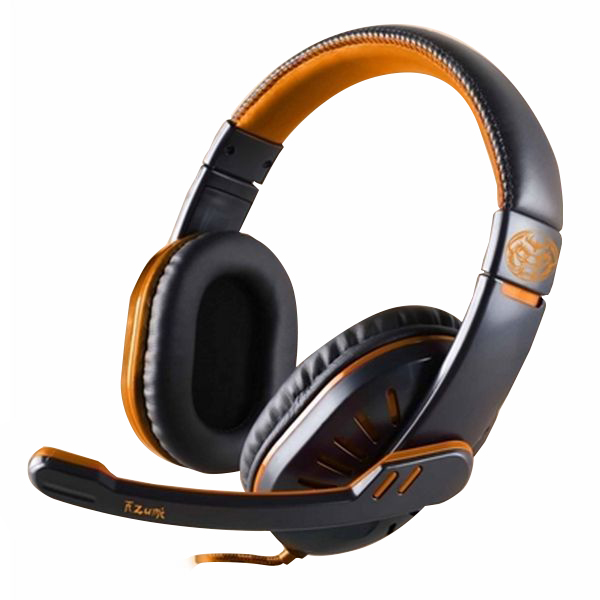 Image of   Gaming headset med mikrofon iggual ONAJI Sort Orange