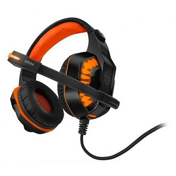 Image of   Gaming headset med mikrofon KROM NXKROMKNR Konor Ultimate | Orange/Sort