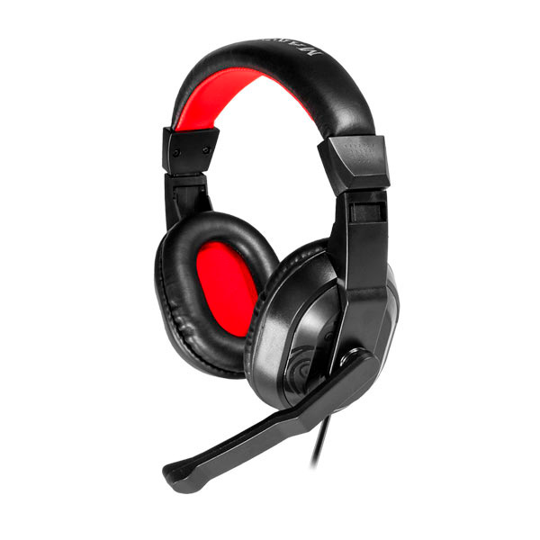 Image of   Gaming headset med mikrofon Mars Gaming MRH0 Sort Rød