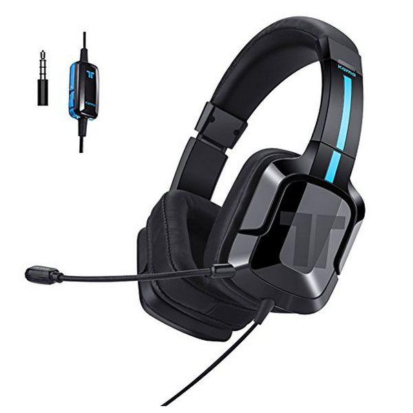 Image of   Gaming høretelefon med mikrofon Tritton 90131 Sort/blå
