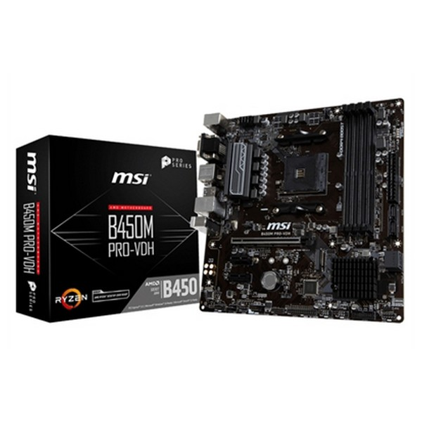 Image of   Gaming Motherboard MSI B450M PRO-VDH PLUS mATX DDR4 AM4