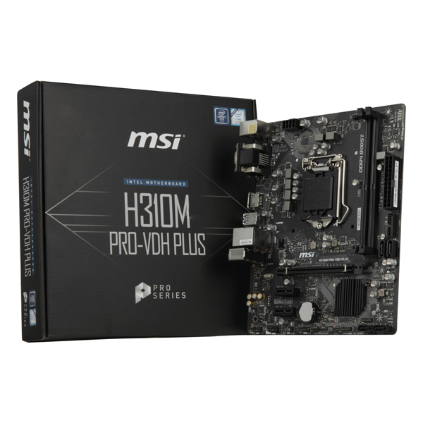 Image of   Gaming Motherboard MSI H310M PRO-VDH PLUS mATX LGA1151