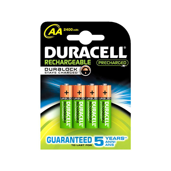 Image of   Genopladelige batterier DURACELL AA NiMh 2400 mAh (4 pcs)