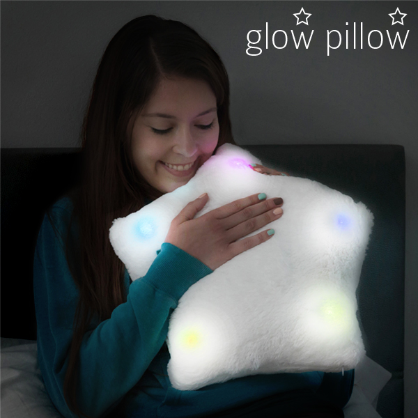 Image of   Glow Pillow Stjernepude med LED