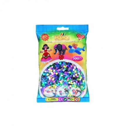 Image of   Hama midi perler 3000 stk 11 farver mix