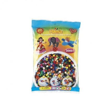 Image of   Hama midi perler 3000 stk 22 farver mix