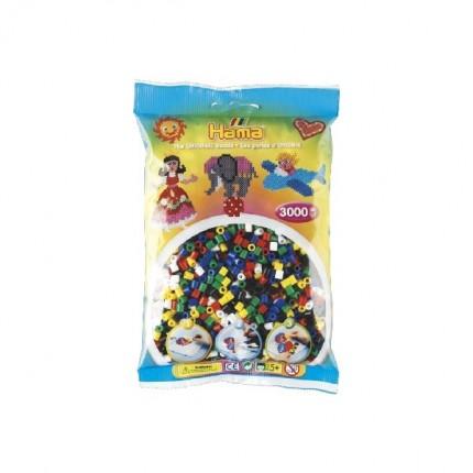 Image of   Hama midi perler 3000 stk 6 farver mix