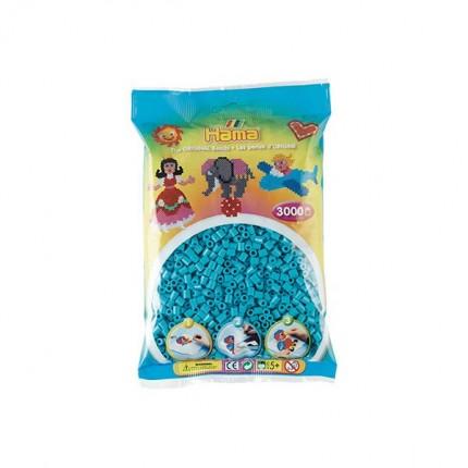 Image of   Hama midi perler 3000 stk azur blå