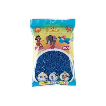 Image of   Hama midi perler 3000 stk blå