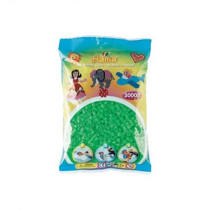 Image of   Hama midi perler 3000 stk flour. grøn