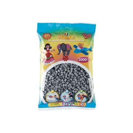 Image of   Hama midi perler 3000 stk grå
