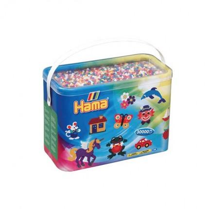 Image of   Hama midi perler 30.000 stk 10 farver mix