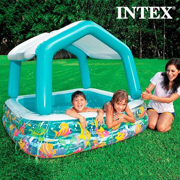 Image of   Home Soppebassin med Parasol Intex