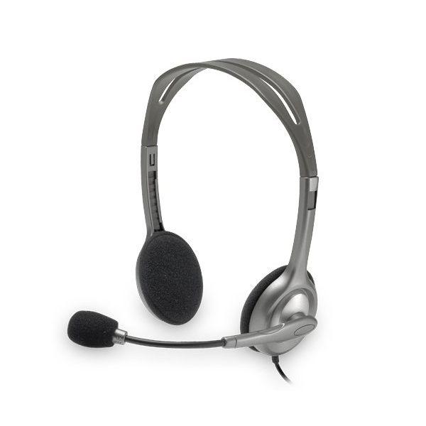 Image of   Hovedtelefoner med mikrofon Logitech H110 2 x Jack 1,4 m