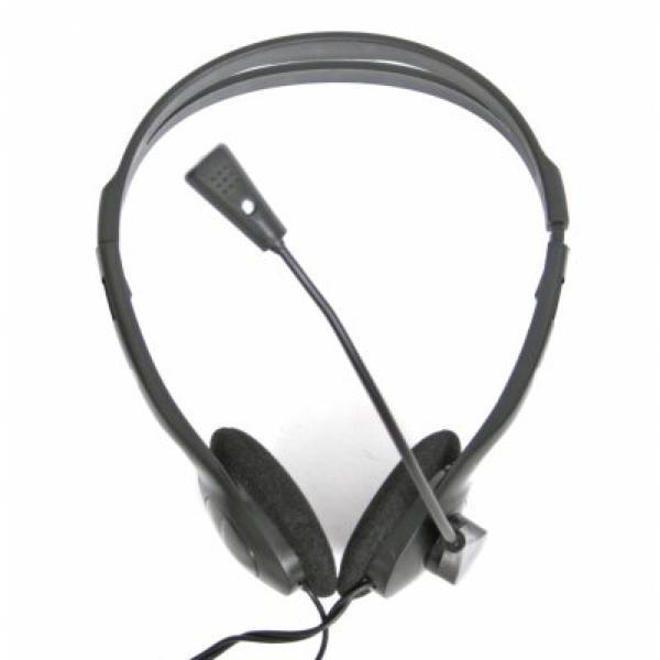 Image of   Hovedtelefoner med mikrofon Omega Fiesta FIS1010 Sort