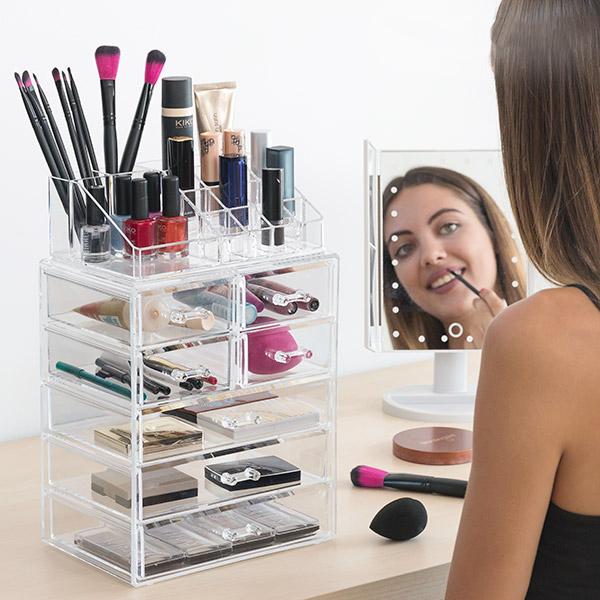 Image of   InnovaGoods Akryllisk Makeup Organiser