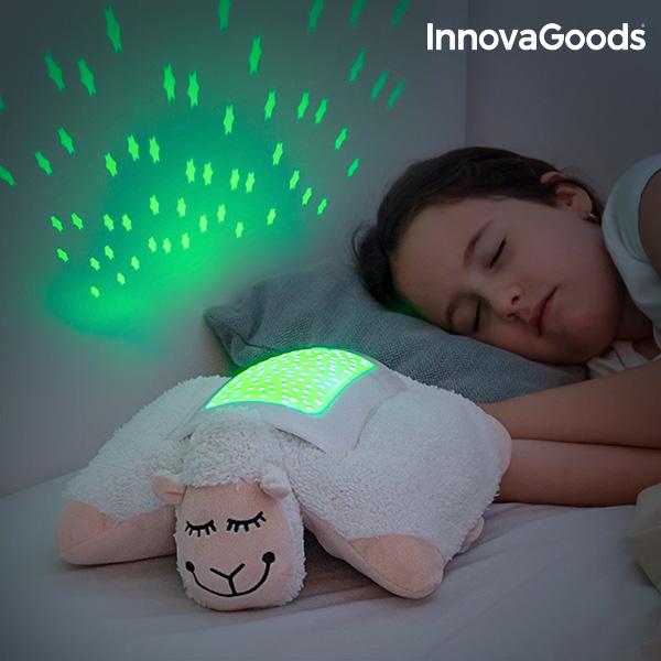 Image of   InnovaGoods Blødt Bamse Får LED Projektor