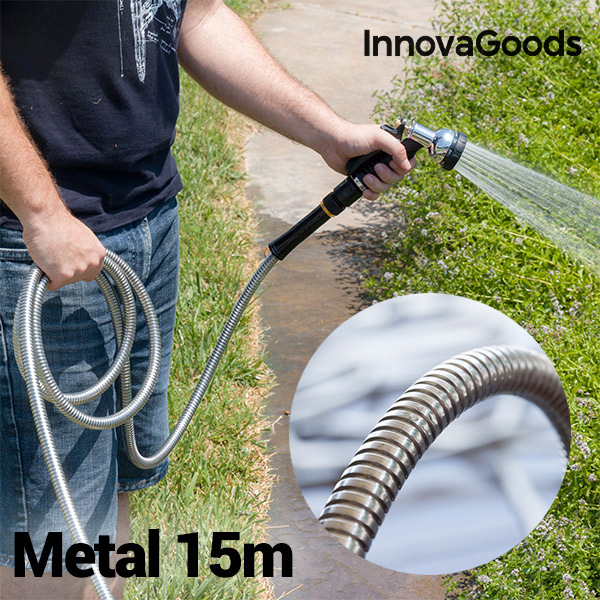 Image of   InnovaGoods Holdbar Metalslange (15 m)