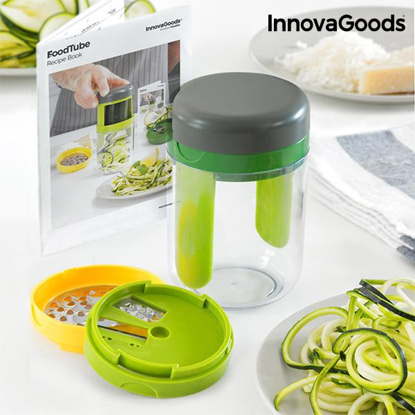 Image of   InnovaGoods Kitchen Foodies Grøntsags Rivejern og Grøntsags Spiral med Opskriftsbog