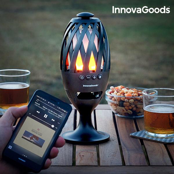 Image of   InnovaGoods LED Fakkel med Bluetooth Højtaler