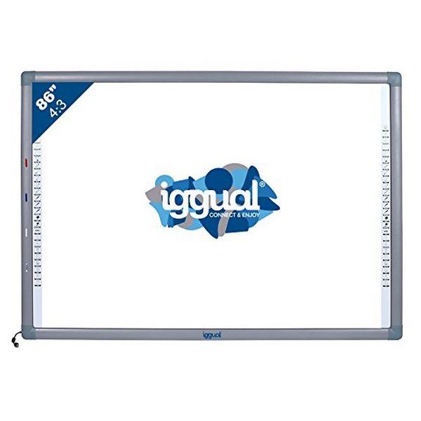 "Image of   Interactive Whiteboard iggual IGG314371 86"" 4:3 Infrarød"