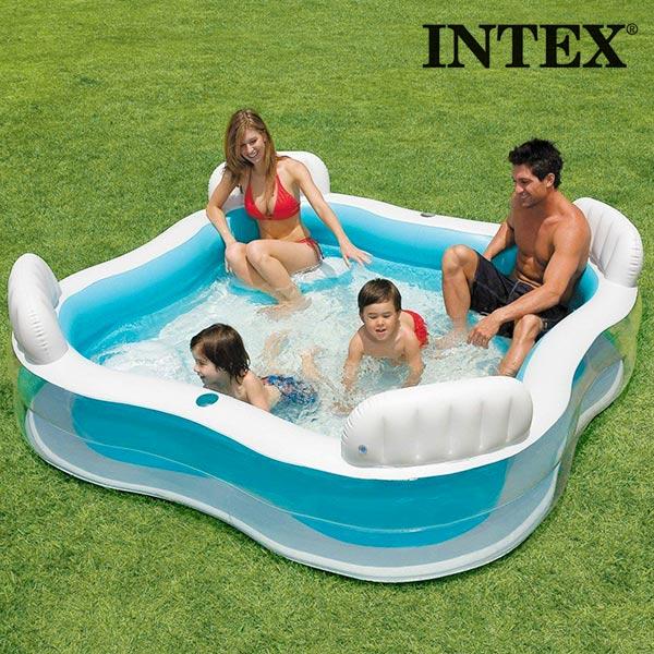 Image of   Intex Sommer Oppustelig Familie Pool med Sæder