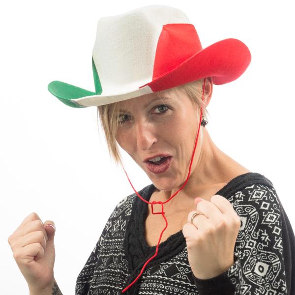 Image of   Italiensk Flag Cowboyhat