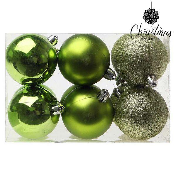 Image of   Julekugler Christmas Planet 8213 6 cm (12 uds) Grøn